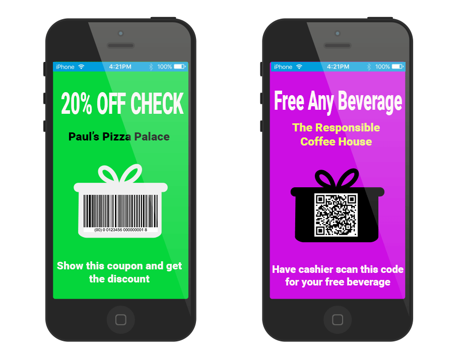 Mobile Coupon examples